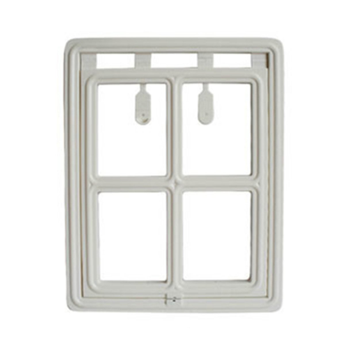 yIFeNG Pet Screen Door Dog Cat Flap With Magnetic Automatic Lock (Large, White)