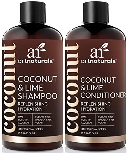 ArtNaturals Coconut-Lime Shampoo and Conditioner Set –  -