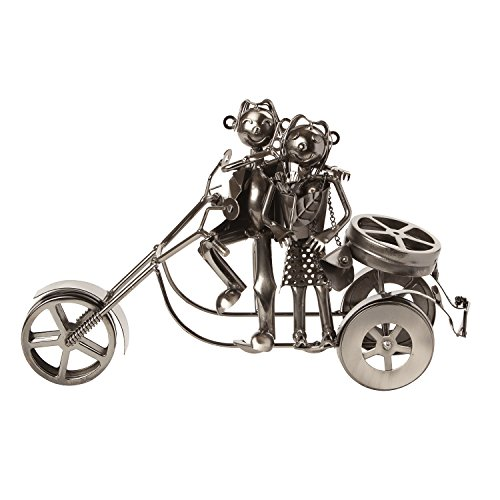 "BRUBAKER Wine Bottle Holder Statue ""Couple On A Motorcycle"" Sculptures and Figurines Decor & Vintage Wine Racks and Stands Gifts Decoration Review"