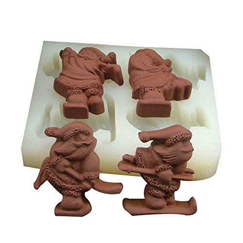 Special Winter Santa Chocolate Candy Soap Silicone Mold (Recipe For Halloween Cookies From Scratch)