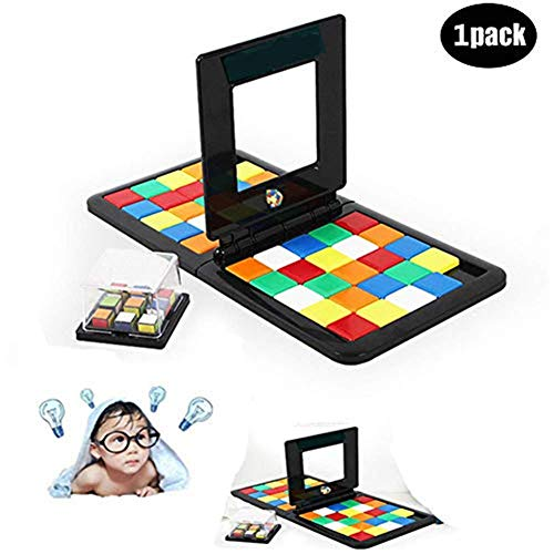 xivqiuny Magic Block Game Puzzle Desktop Table Game Interactive Toy of Brains Kids Adults Cube Education Toy for Kids and Adult (Rubiks Race Board Game)