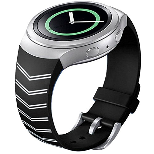 Silicone Watch Band Strap For Samsung Galaxy Gear S2 SM-R720(Black) - 7