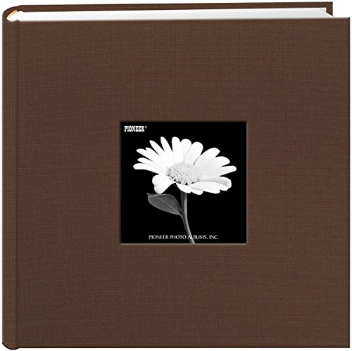 Fabric Frame Cover Photo Album 200 Pockets Hold 4x6 Photos, Chocolate Brown