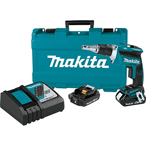 Makita XSF03R 18V LXT Lithium-Ion COMPACT Brushless Cordless Drywall Screwdriver Kit (2.0Ah)