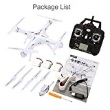 SYMA Quadcopter X5SW 4 Channel Remote Controlled HD Camera for Real Time Video Transmission, White
