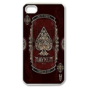 iPhone 4/4s Case icycle Mayhem Playing Cards deck For Women, Iphone 4s Case For Men Jumphigh, {White}