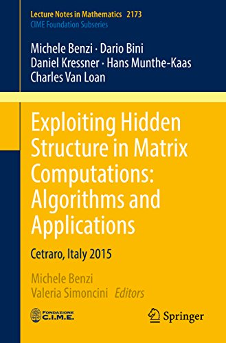 Exploiting Hidden Structure in Matrix Computations: Algorithms and Applications: Cetraro, Italy 2015 (Lecture Notes in Mathematics)