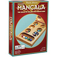 Pressman Mancala Real Wood Folding Set With Multicolor Stones