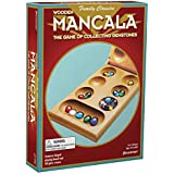 Pressman Mancala - Real Wood Folding Set, with Multicolor Stones