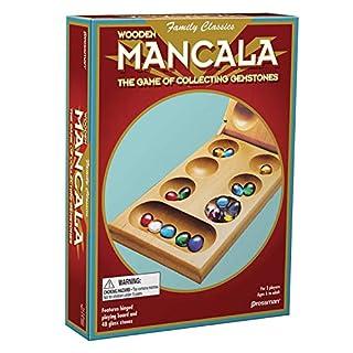 Pressman Mancala - Real Wood Folding Set, with Multicolor Stones by Pressman