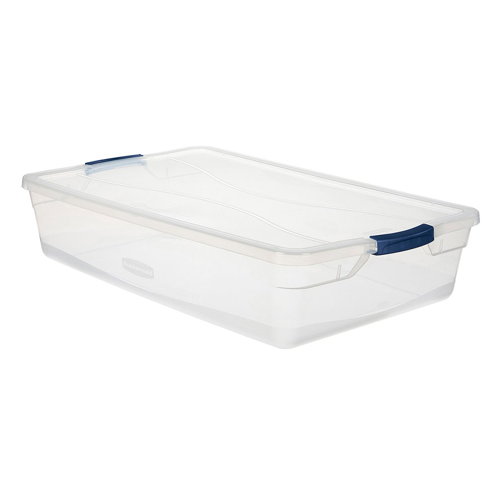 Rubbermaid Clever Store 3Q2900Clmcb Latching Storage Container 41-Quart Clear