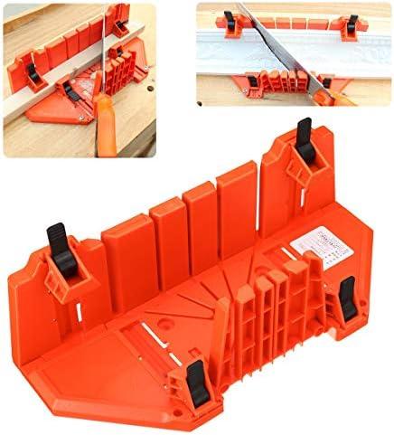 Queenwind 14 インチマイターボックス鋸キャビネットケース木工斜角ハンドクリップ切削工具