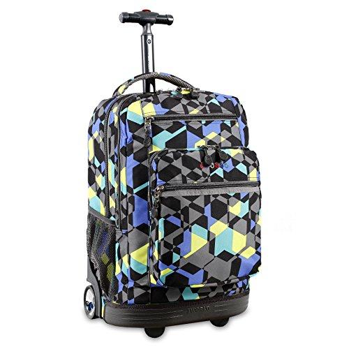 J World New York Sundance Laptop Rolling Backpack, Cubes