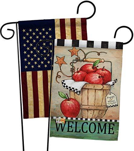 Flag Apple Basket - Breeze Decor GP117039-P3AA Apple Basket Food Fruits Impressions Decorative Vertical 13