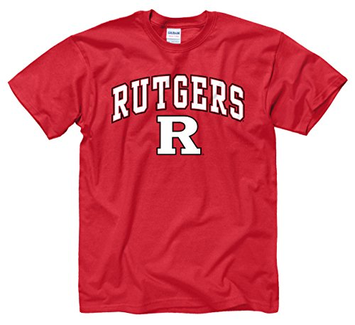 Rutgers Scarlet Knights Adult Arch   Logo Gameday T Shirt   Red   Large