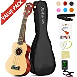Soprano Rainbow Ukulele Beginner Pack-21 Inch w/Gig Bag Fast Learn Songbook Digital Tuner All in One Kit