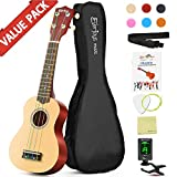 : Soprano Rainbow Ukulele Beginner Pack-21 Inch w/ Gig Bag Fast Learn Songbook Digital Tuner All in One Kit