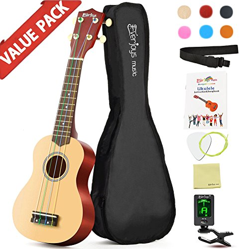 Soprano Rainbow Ukulele Beginner Pack-21 Inch w/ Gig Bag Fast Learn Songbook Digital Tuner All in One Kit