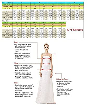 DYS Dresses Women's Simple Formal Evening Dress A Line Prom Gowns