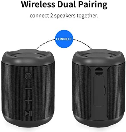 [Upgraded] Bluetooth Speakers,MusiBaby Bluetooth Speaker 5.0,Outdoor,Waterproof,Wireless Speaker,Dual Pairing,Loud Stereo Sound,Booming Bass,25h Playtime for Camping,Beach,Pool,Shower(Black) 51VlQsPbkgL