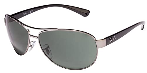 8d0b71c7b5 Image Unavailable. Image not available for. Color  Ray Ban RB3386 004 71 67mm  Gunmetal Green ...