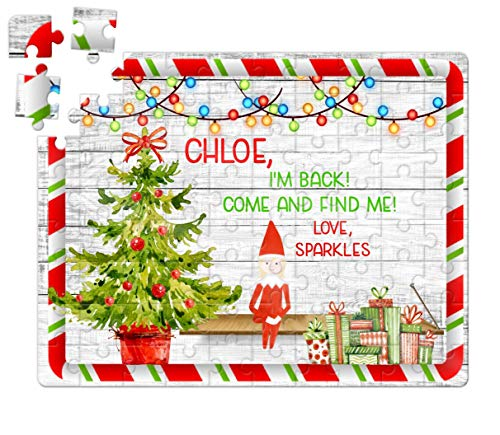 elf puzzle welcome back elf elf returns elf gift kids gift puzzle gift personalized puzzle custom puzzle gift for daughter gift for son