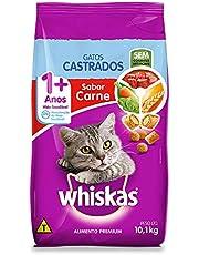 Ração Whiskas para Gatos Adultos Castrados Sabor Carne - 10,1kg