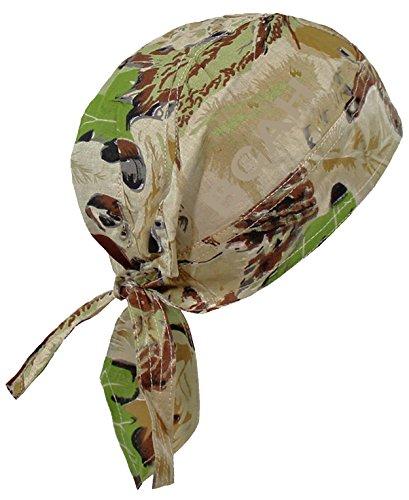 Camouflage Doo Rag Skull Cap Camo Bandana Hunting Hunters Head Wrap (Moss Oak Leaf Camouflage I)