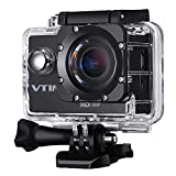 Vtin 1080P Sports Action Camera HD 12MP Waterproof Camcorder 2 Inch LCD Screen 170 Degree Wide Angle Len Video Cam with 16 Mounting Kits - No WiFi Edition
