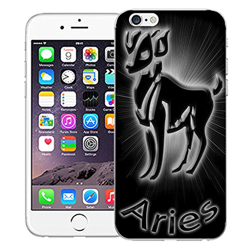 """Mobile Case Mate iPhone 6 4.7"""" Silicone Coque couverture case cover Pare-chocs + STYLET - Black Aries pattern (SILICON)"""