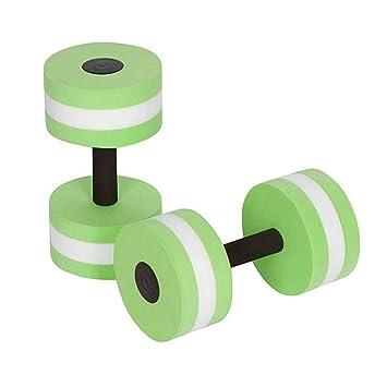 VORCOOL Deportes Ejercicio acuático Mancuernas Fitness Barbells Ejercicio Barras de Mano para aeróbicos acuáticos (Verde