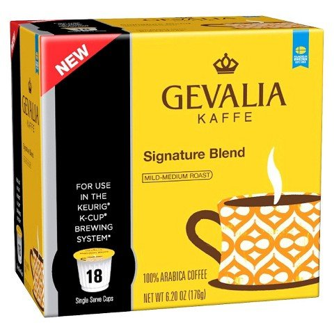 Gevalia Kaffe Signature Blend Mild-Medium Roast Coffee K-Cups 18 ct ()