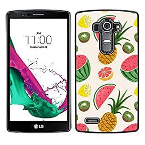 LECELL--Funda protectora / Cubierta / Piel For LG G4 -- Piña Fruit Dibujo Pintado --