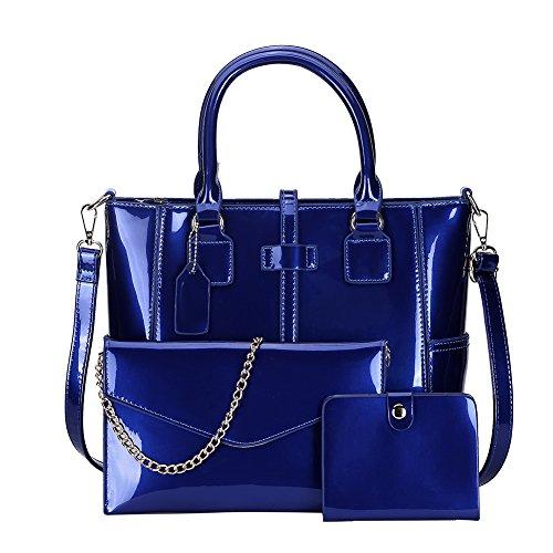 Fashion Unie nbsp;ladies Trois nbsp; Couleur Tote Pièces bleu vwqEECAaW