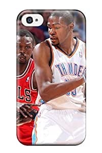 DanRobertse Scratch-free Phone Case For Iphone 4/4s- Retail Packaging - Oklahoma City Thunder Basketball Nba Chicago Bulls