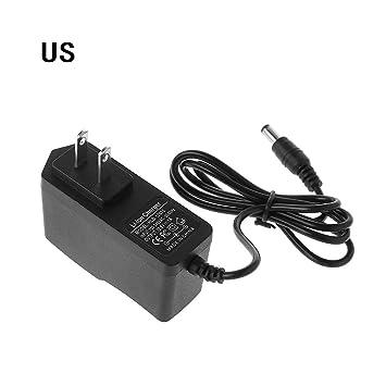AC 100-240V DC 12.6V 1A Power Supply Charger Adapter For Li Battery EU//US Plug