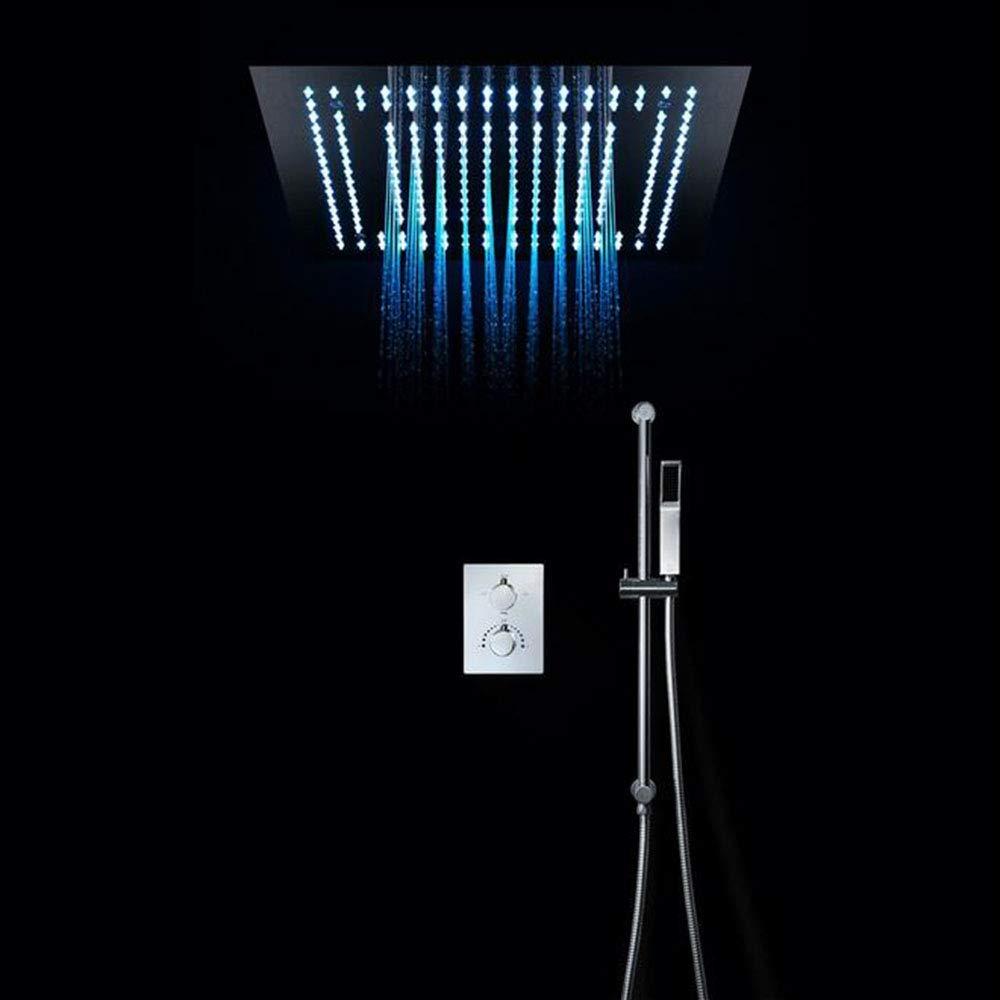 シャワー-400 * 400 cmデュアル機能LED壁掛けシャワーキット - BLiftsidespray B07QB6L6TH