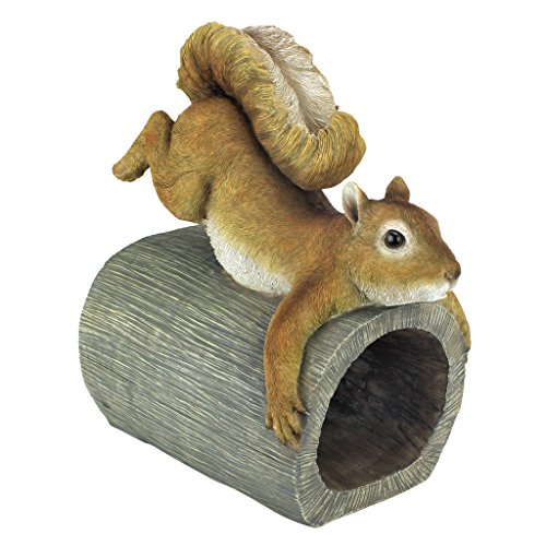 Design Toscano Crash The Squirrel Gutter Guardian Downspout Statue