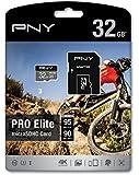 PNY U3 PRO Elite MicroSD Card (Up-To 95MB/S Read/90MB/S Write Speeds),32GB (P-SDU32GU395PRO-GE)