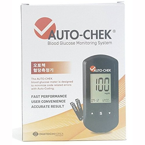 AUTO-Check-Diabetes-Testing-Kit-Blood-Glucose-Monitoring-Auto-Coding-system-Full-Set-Test-Paper-50-Needle-200-Cotton-100-Medical-Supplies-Blood-Test-measurement-Meter