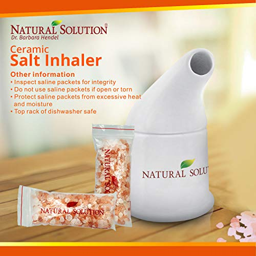 51VlTQwIpeL - Natural Solution Organic Personal Care Travel Gift Set 2 Items | Nasal Inhaler and Ceramic Salt Inhaler