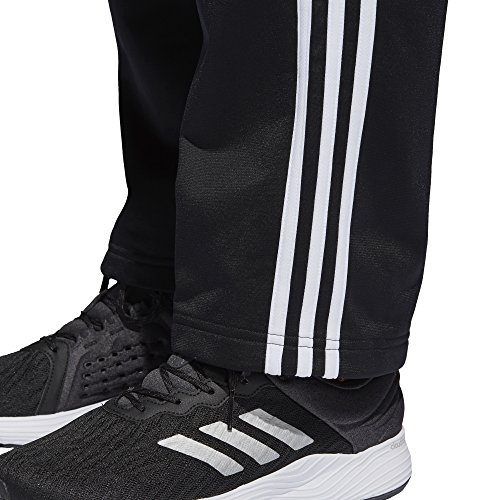 adidas Men's Athletics Essential Tricot 3-Stripe Pants, Black/White, Small by adidas (Image #7)