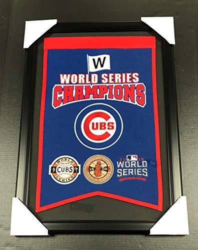 CHICAGO CUBS 3X WORLD SERIES CHAMPIONS FRAMED WOOL BANNER WINNING STREAK