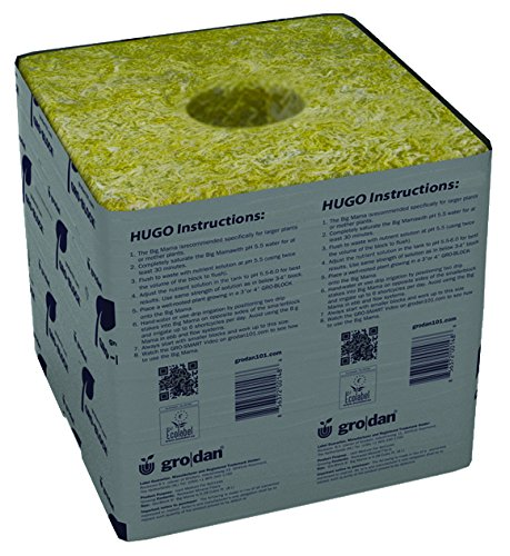 Grodan Hugo 6 x 6 Rockwool Blocks Case of 48 by Grodan