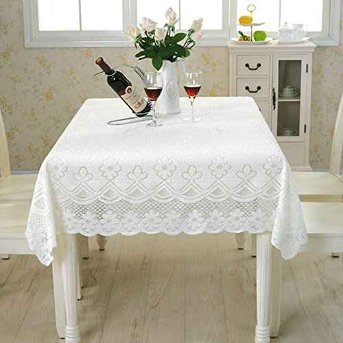 yazi Sofa Arm Covers Tablecloth Decorative Square White Table Decoration 35 1/2inch by 63