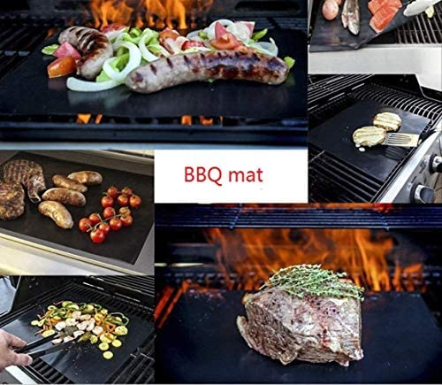 yitan Tapis de Cuisson Tapis Barbecue 50pcs/lot Anti-Stick Surface Heat Resistant BBQ Grill Mats 40 * 33cm Durable Barbecue Baking Mats Grill Pad Sheets Party Favors