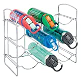 mDesign Metal Water Bottle and Wine Rack, Holds 9 Bottles