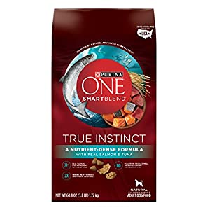 Purina ONE SmartBlend True Instinct Natural with Real Salmon & Tuna Adult Dry Dog Food - Six (6) 3.8 lb. Bags