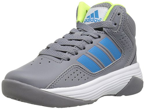 adidas Kids' Cloudfoam Ilation Mid Skate Shoe, Grey/Solar Blue/Electricity, 6.5 M US Big Kid