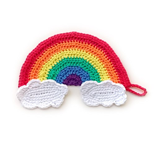 handmade-crochet-rainbow-and-clouds-cotton-washcloth-and-mini-scrubbies-set-of-3